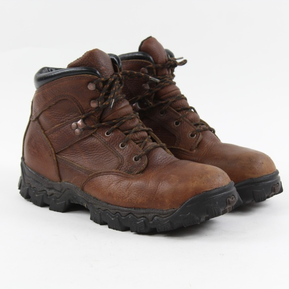"Rocky Other - Rocky Men's R6003 Steel Toe 6"" Brown Leather Lace"